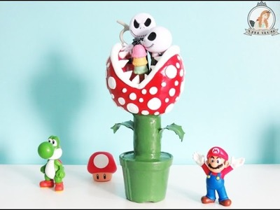 DIY - Porta Lápis Planta Carnívora. Piranha Plant Pencil Holder - Mario Bros - English Subtitles