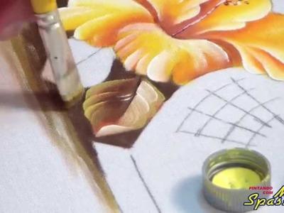 Escola OnLine Márcia Spassapan - Pintando Hibisco Passo a Passo