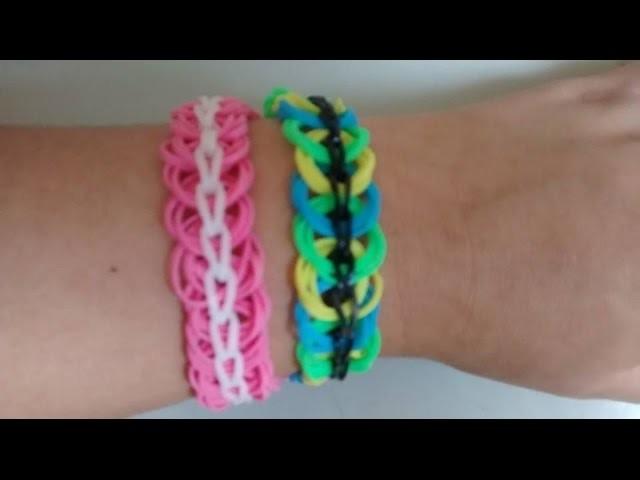 ♥ Como fazer pulseira de elástico  cosas de gomitas. COM LÁPIS  (sem tear) pulseras de gomitas