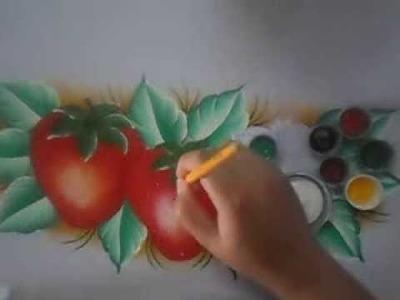 E muito facil pintar esse morango