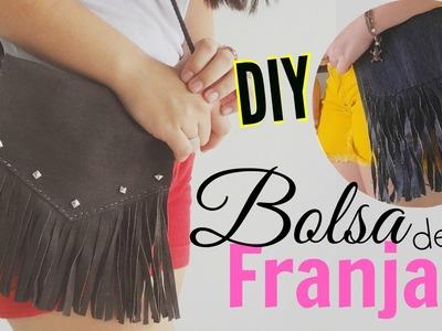 DIY: Bolsa de Franjinha (customizada) | Andressa Moraes
