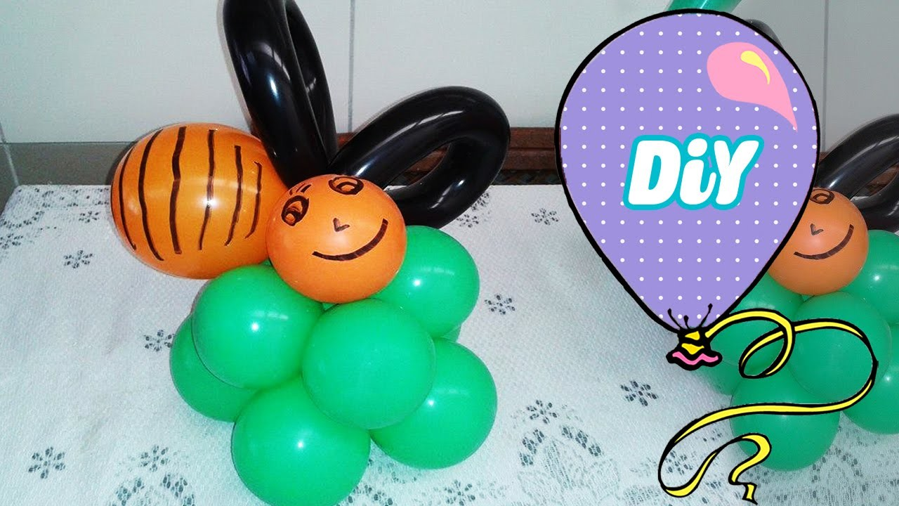 Como Fazer Abelha Balão - DIY Escultura de Balão abelinha (Bee balloon)