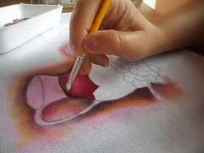Efeito transparência - pintura em tecido  parte 1.2 - transparency effect 1.2