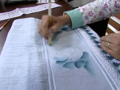 Mulher.com 14.05.2014 Thanynha Avila - Pintura tecido rosas Parte 1.2