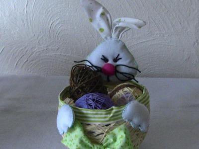 1° PARTE-Cesta com Coelho da Páscoa Passo a Passo -Easter Bunny feltre