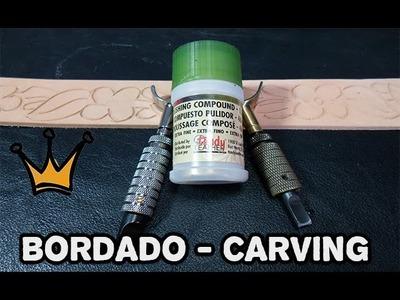 #2 - Tutorial de Bordado em Couro - Carving Leather Craft - Trabalho em couro