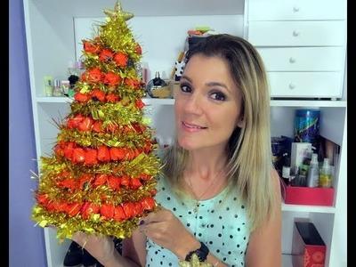 Árvore de Natal com Balas - DIY - By Luana Viana