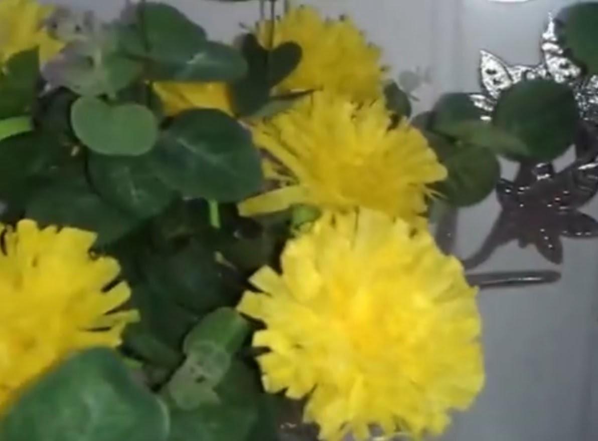 Aula 10 - Como fazer arranjos de flores de papel crepom (Cravos) - Artesanato