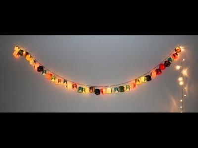 Como fazer luminária de origami