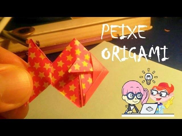 Como fazer um PEIXE de Dobradura Origami How to make a FISH