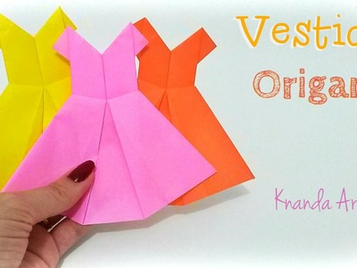 Como fazer Vestido de papel - How to make a Dress - Origami
