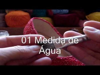 Crochê - Sapato Vermelho - Parte 04.04