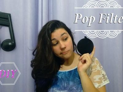 #DIY tutorial de Pop filter para gravação sem ruído!!