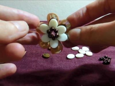 Flor de pedraria para sandália como fazer passo-a-passo