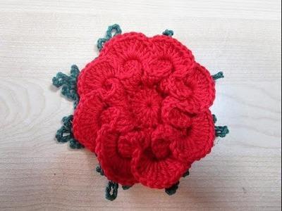 Flor em crochê copinho