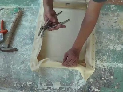 Imprimatura de lienzo para pintar al óleo. Gesso. Curso de pintura.