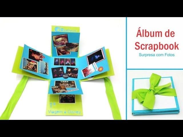 Mini álbum Scrapbook - Surpresa com Fotos
