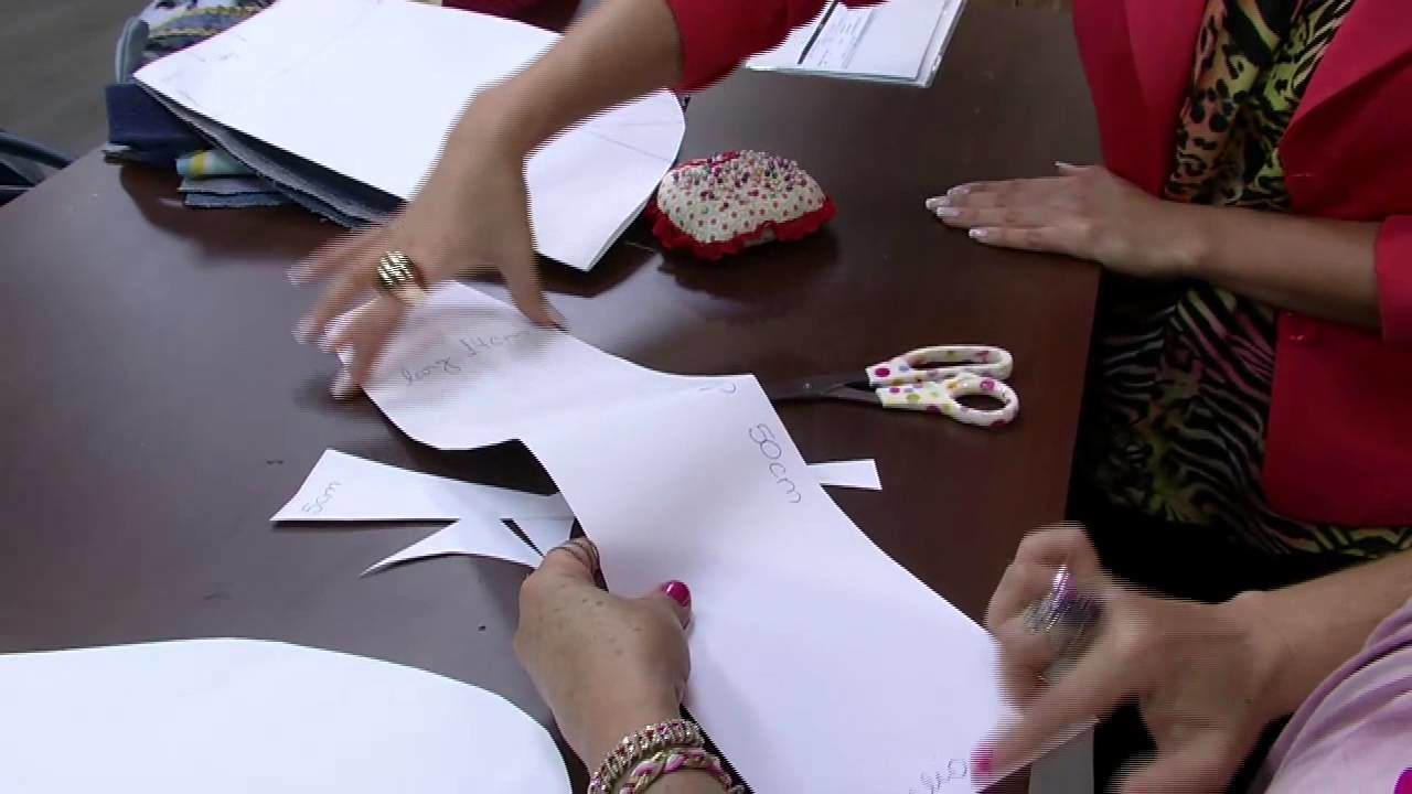 Mulher.com 06.10.2014 Mara Gimenes - Bolsa customizada calça jeans Parte 1.2