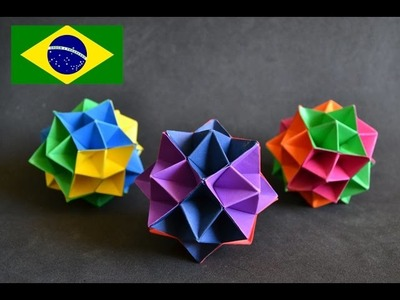 Origami: Spike Ball - Tutorial com voz PT BR