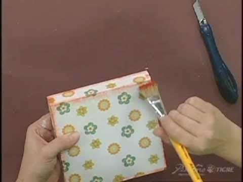 Passo a Passo  Pintura em Madeira Caixa Estencil Pinctore Tigre