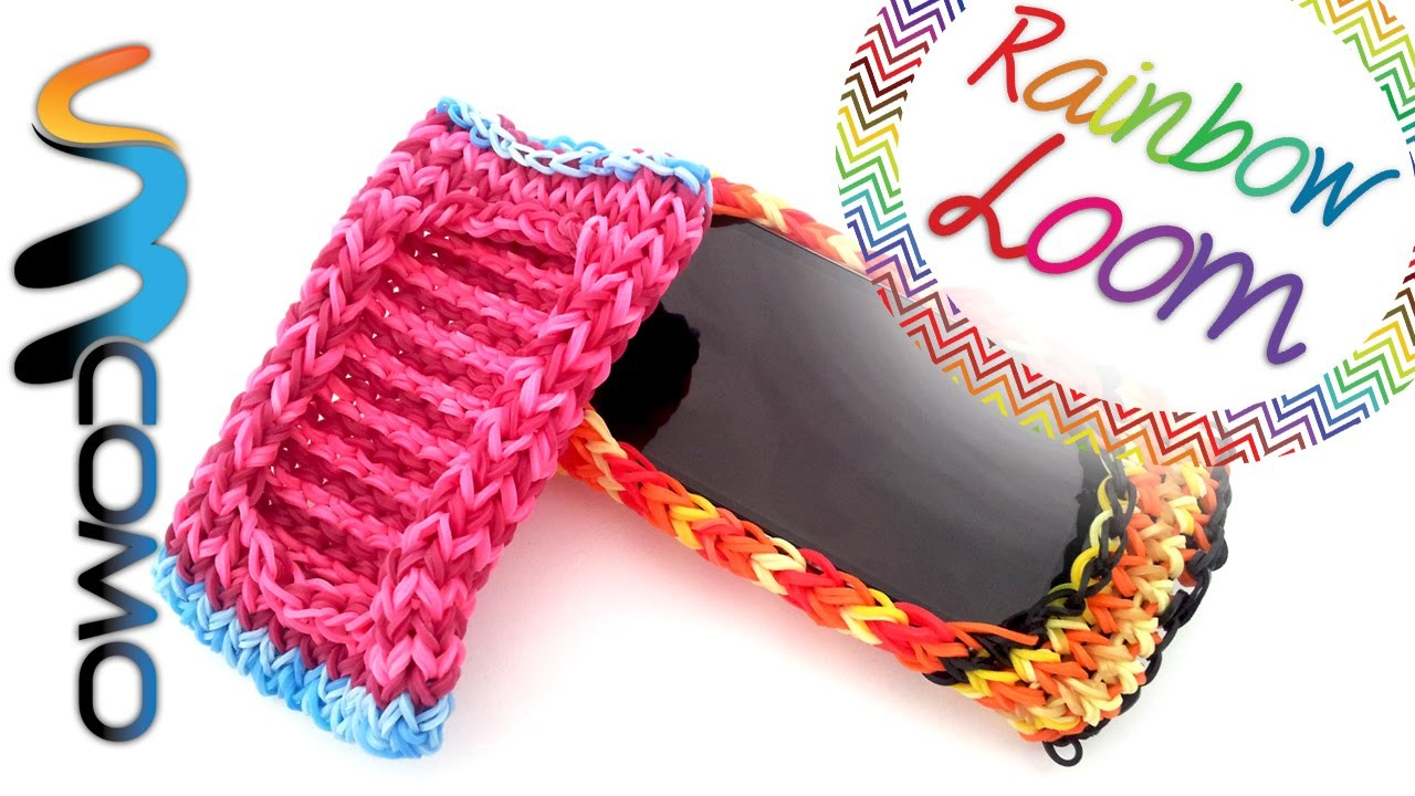 Rainbow Loom - Capa telemóvel com elásticos