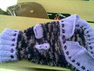 Roupas em trico à mão para animais