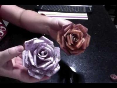Tutorial - Flor de papel Scrapbooking.scrapbook