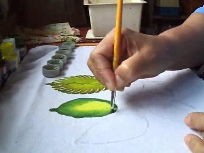 Aprenda a pintar folhas + fáceis