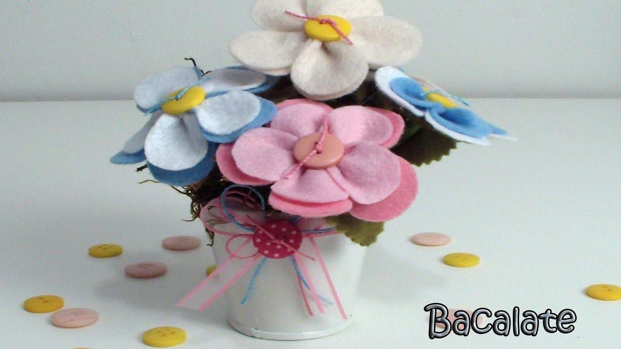 Artesanato Flores de Feltro para Decoração - Dia das Mães, DIY, Handmade