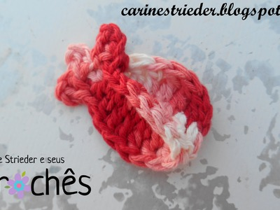 Botão de Rosa em Crochê por Carine Maria Strieder