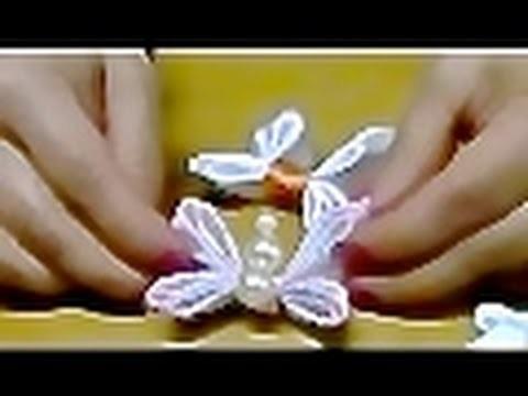 Butterfly -Como fazer Borboleta em fitas de cetim Passo a passo