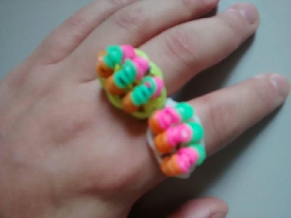 Como fazer ♥ ANEL DE ELÁSTICO Candy ♥ Pulseira de elástico   Rainbow Loom  (com tear) ♥