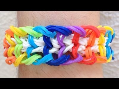 Como fazer pulseira de elástico: Spike #LoomBands (sem tear)