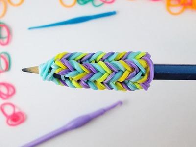 Como fazer um pega para lápis com Rainbow Loom