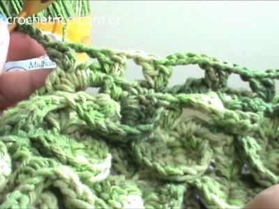 Crochê - Tapete Barroco em Ponto Escama - Parte 07.09
