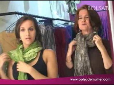 Dicas de como usar echarpes com Amalia Piffero