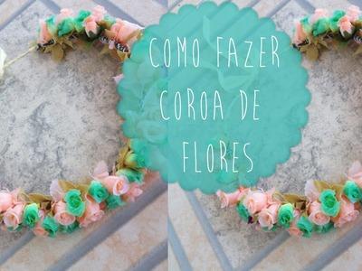 DIY: Como fazer coroa de flores   Aisha Faria