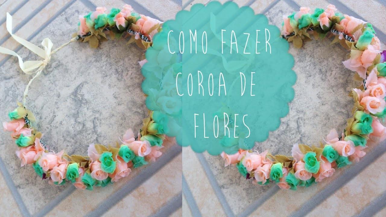 DIY: Como fazer coroa de flores | Aisha Faria