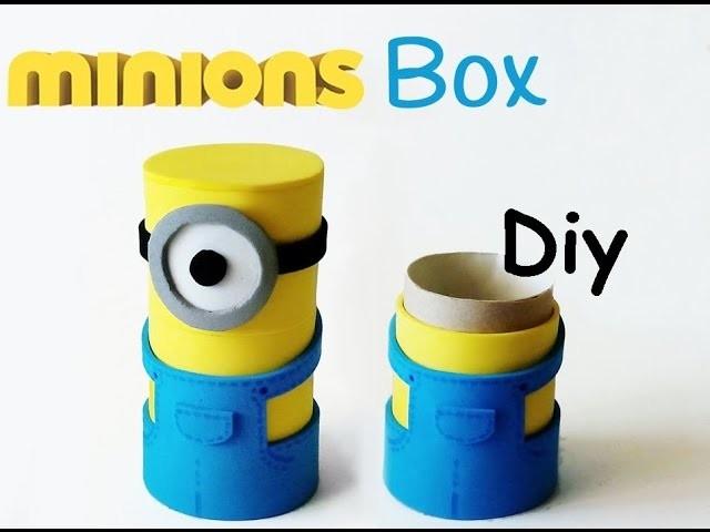 DIY crafts: MINIONS BOX