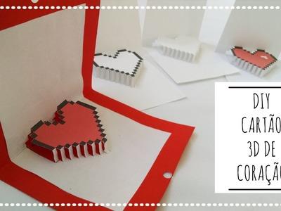 DIY Dia dos Namorados: Cartão de Coração em 3D