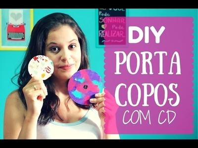 DIY Porta Copo com CD
