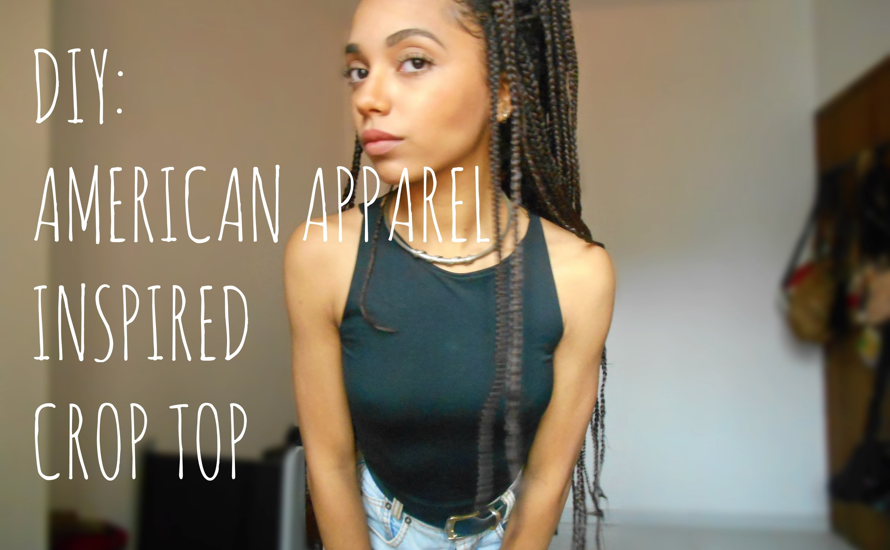 DIY - Top Crop Inspirado na American Apparel