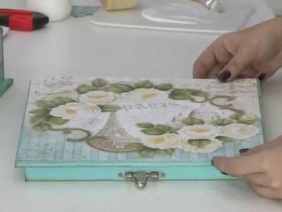 Mulher.com 28.10.2014 Marisa Magalhães - Caixa romântica de scrap Parte 1.2