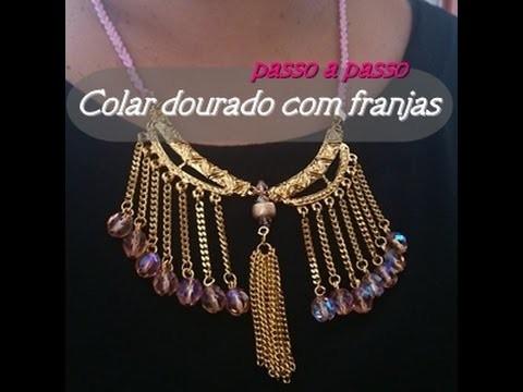NM Bijoux - Colar dourado com franjas