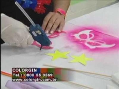 Passo a passo Colorgin - Máscara de carnaval luminosa