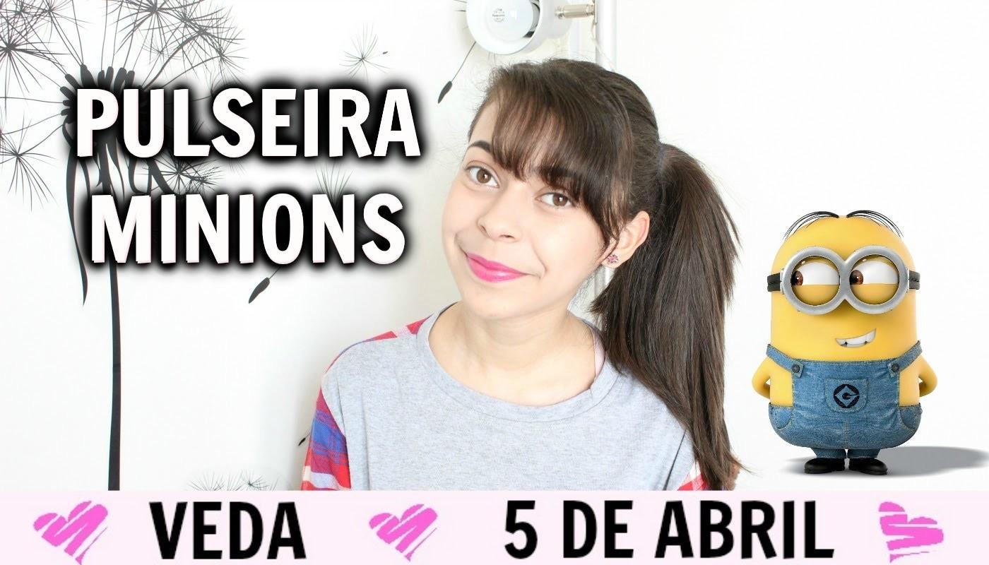 Pulseiras: Minions Rainbow Loom VEDA#5