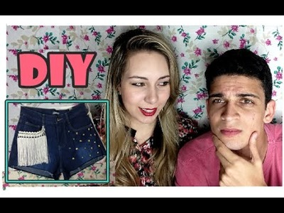 SHORT CUSTOMIZADO COM FRANJA | Namorado Narrando DIY