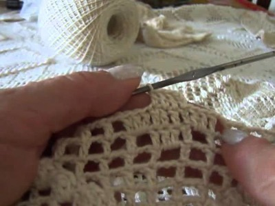 Vídeo aula de colcha de crochê Parte 7