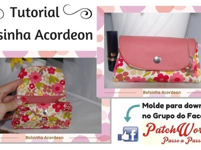 Bolsinha Acordeon - com molde em PDF