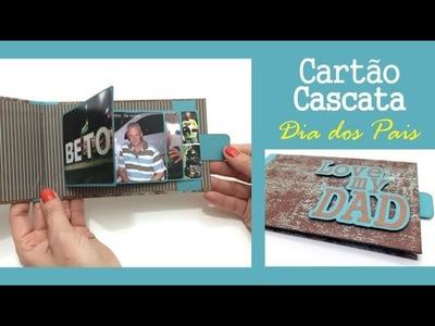 Cartão Cascata com técnica de scrapbook
